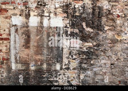Old Brick Wall in Venice, Italy - Stock Photo