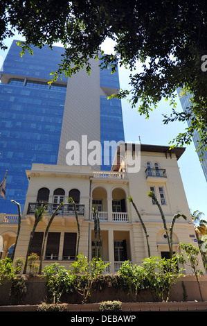Levin house AKA the Russian Embassy at 46,Rothschild Boulevard, Tel Aviv. - Stock Photo