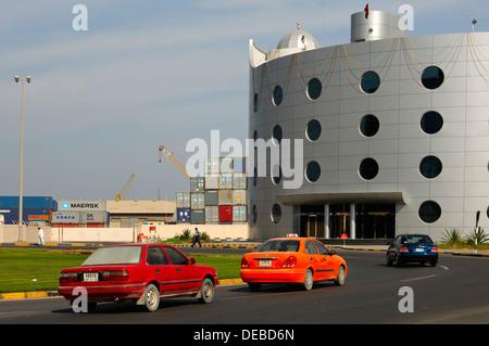 Ajman Ports and Customs building, Emirate of Ajman, United Arab Emirates - Stock Photo