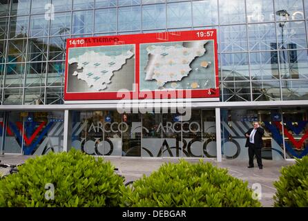 Giant LED TV screen, IPTV (Internet Protocol Television), shopping mall, San Sebastian, Guipuzcoa, Basque Country, - Stock Photo