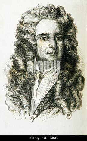 Sir Isaac NEWTON FRS 4 January 1643 - 31 March 1727 OS: 25 December 1642 - 20 March 1727 was an English physicist, - Stock Photo