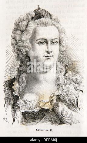 Catherine II Russian:  II , Yekaterina II Velikaya, also known as Catherine the Great, born 2 May O S  21 April - Stock Photo