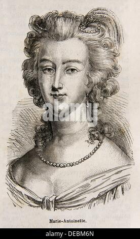 Maria Antonia Josepha Johanna von Habsburg-Lothringen French: Marie Antoinette Josèphe Jeanne de Habsbourg-Lorraine, - Stock Photo