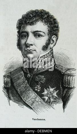 France, History, 19th Century - General Dominique-Joseph René Vandamme, Count of Unseburg 5 November 1770 - 15 July - Stock Photo