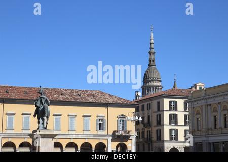 Martiri della liberta square Novara, Piedmont, Italy - Stock Photo
