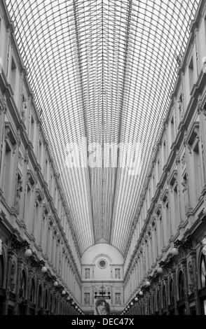 Galeries Royales Saint-Hubert mall, Brussels, Brussels Region, Belgium - Stock Photo