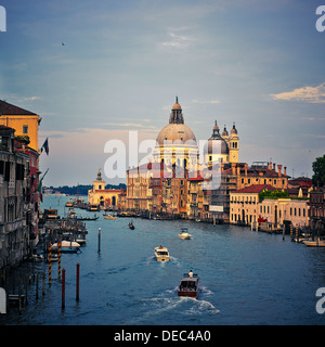 Santa Maria della Salute. View From Academia, Venice, Italy, Europe. - Stock Photo