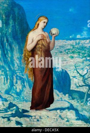 Saint Mary Magdalene in the desert 1869 Pierre Puvis de Chavannes 1824 – 1898  French France - Stock Photo