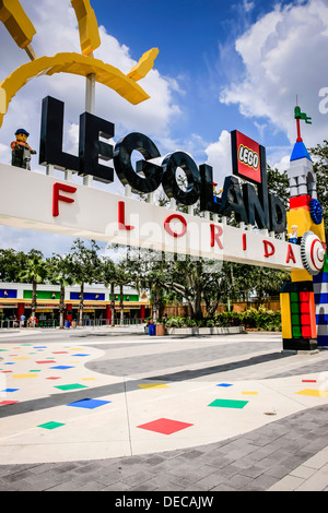Entrance to Legoland Florida - Stock Photo