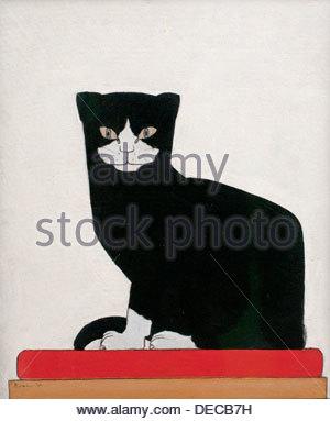 The Cat 1914 Bart van der Leck Dutch Painter The Netherlands - Stock Photo