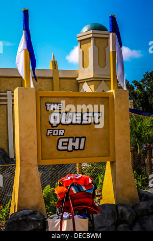 The Quest for Chi at the World of Chima ride at Legoland Florida - Stock Photo