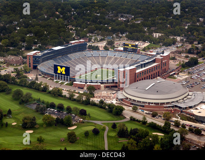 University of Michigan football stadium, Ann Arbor, Michigan. - Stock Photo