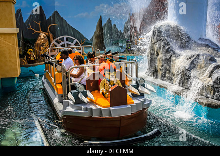 The Quest for Chi water ride at the World of Chima ride at Legoland Florida - Stock Photo
