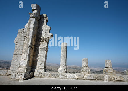 St. Simeon basilica (5th century), Qal´at Samaan located near Aleppo, Syria - Stock Photo