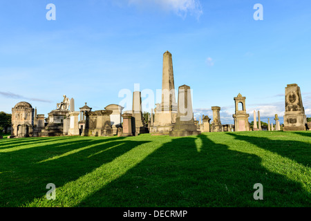 The Glasgow Necropolis, Victorian gothic cemetery, Scotland, UK - Stock Photo