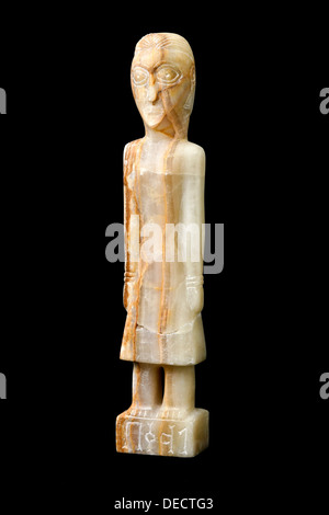 Ancient carved statue excavated in Yemen - Stock Photo