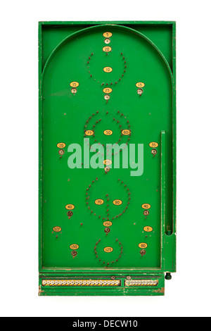 Vintage 1940's wooden bagatelle game by Chad Valley, the forerunner of pinball and pachinko as we know them today - Stock Photo