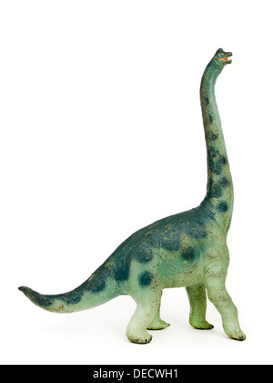 Vintage 1980's Apatosaurus (aka Brontosaurus) dinosaur toy from the Carnegie Dinosaur Collection issued by ELC UK - Stock Photo