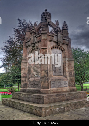 Dalkeith Park War Memorial, Kings Park, Midlothian, Edinburgh, Scotland, UK - Stock Photo