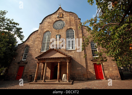 Canongate Kirk Church Edinburgh Royal Mile, Scotland, UK exterior - Stock Photo