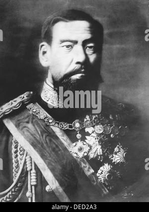 EMPERORO MEIJI (1852-1912)  122nd Emperor of Japan - Stock Photo