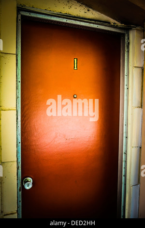 ... A mysteriously Funky wooden hotel door number One with peep hole - Stock Photo & Door number one Stock Photo: 11759307 - Alamy