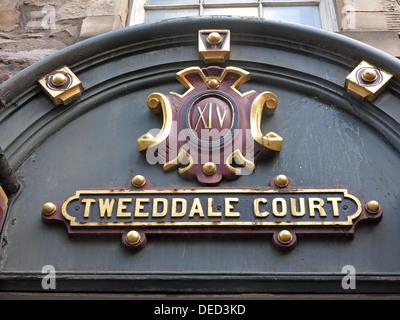 Tweeddale Court Royal Mile , Edinburgh old town , Scotland - Stock Photo