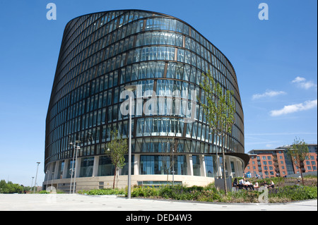 One Angel Square, a high-sustainable office building in Manchester, England. - Stock Photo