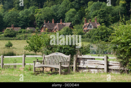 View of Hambleden, a Village in Buckinghamshire - Stock Photo