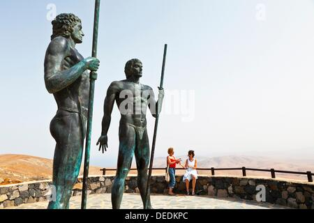 Monument to the ´Majos´, Parque Rural de Betancuria, Fuerteventura, Las Palmas, Canary Islands, Spain - Stock Photo