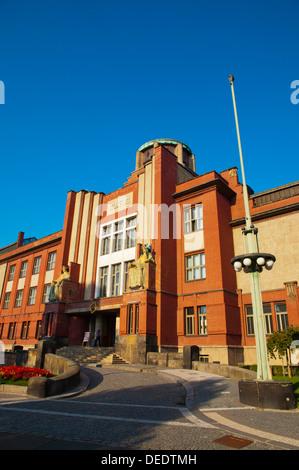 Muzeum vychodnich cech museum building (1908) by Jan Kotera central Hradec Kralove city eastern Bohemia Czech Republic Europe