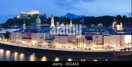 View over the old town of Salzburg, UNESCO World Heritage Site, Salzburg, Salzburger Land, Austria, Europe - Stock Photo