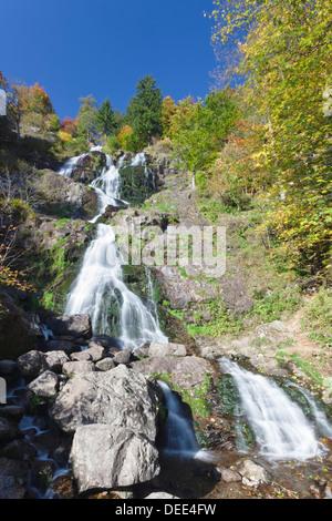 Hangloch Waterfall near Todtnau, Black Forest, Baden Wurttemberg, Germany, Europe - Stock Photo