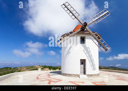 Moulin Mattei at Col de Serra, Corsica, France, Europe - Stock Photo