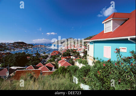Harbour. Gustavia. St. Barts. Caribbean. West Indies (FR) - Stock Photo