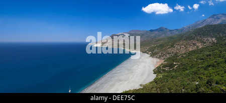 Beach of Nonza, Corsica, France, Mediterranean, Europe - Stock Photo