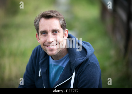 Stephen Parry , the former Olympic swimmer and current businessman and broadcaster pictured at Stand Cricket Club, - Stock Photo