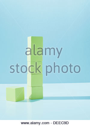 Stack of yellow blocks - Stock Photo