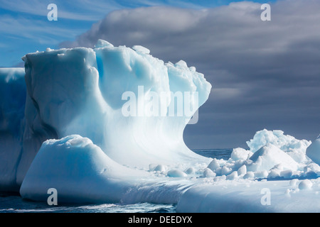 Iceberg in Hercules Bay, South Georgia, Southern Ocean, Polar Regions - Stock Photo