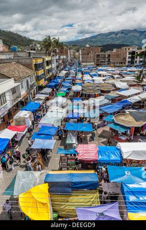 Otavalo market, Imbabura Province, Ecuador, South America - Stock Photo