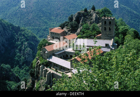 Sant Marti del Canigo. Pyrenees-Orientales. Languedoc-Roussillon. France - Stock Photo