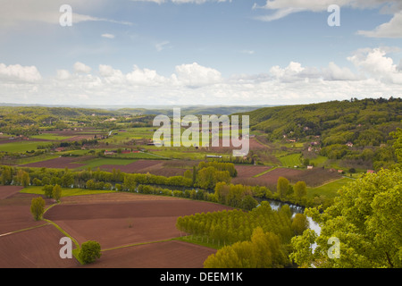 The valley of the Dordogne in south western France, Europe - Stock Photo