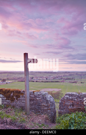 The North Yorkshire countryside from Kirby Hill, Yorkshire, England, United Kingdom, Europe - Stock Photo