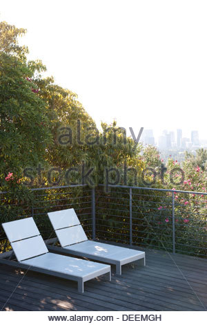 Balcony overlooking cityscape stock photo royalty free for Balcony overlooking city