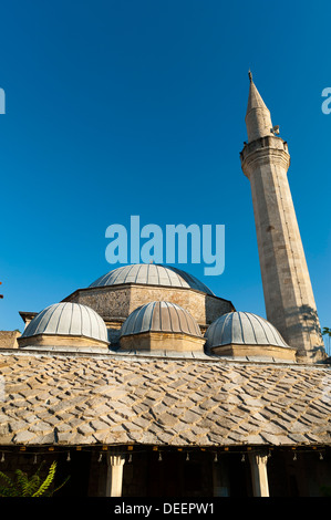 Nesuh-aga Vucijakovic mosque, Mostar, municipality of Mostar, Bosnia and Herzegovina, Europe. - Stock Photo