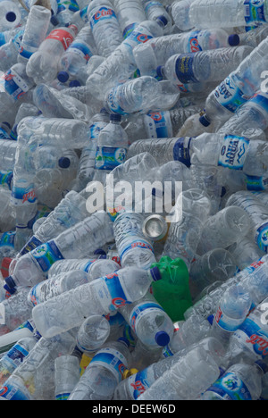 A pile of plastic bottles - Stock Photo