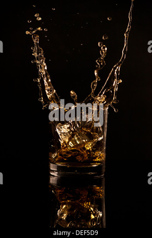 Whiskey splash - Stock Photo
