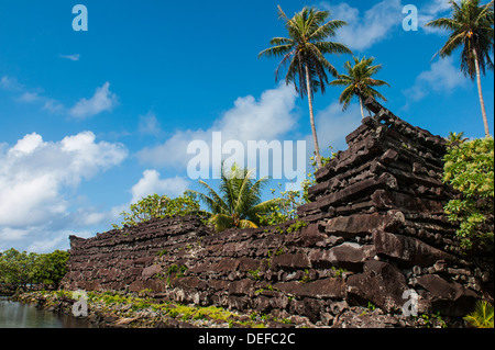 Ruined city of Nan Madol, Pohnpei (Ponape), Federated States of Micronesia, Caroline Islands, Central Pacific, Pacific - Stock Photo