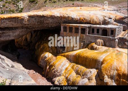 The Inca Bridge near Mendoza, Argentina, South America - Stock Photo