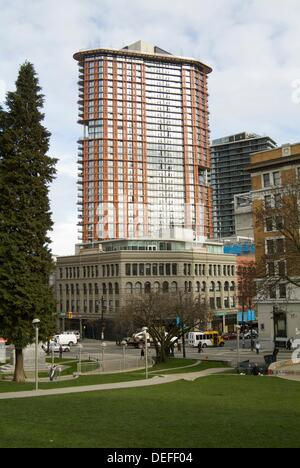 Woodwards development, downtown Vancouver, BC, Canada - Stock Photo